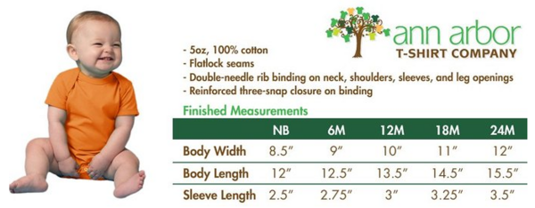 size chart for infants